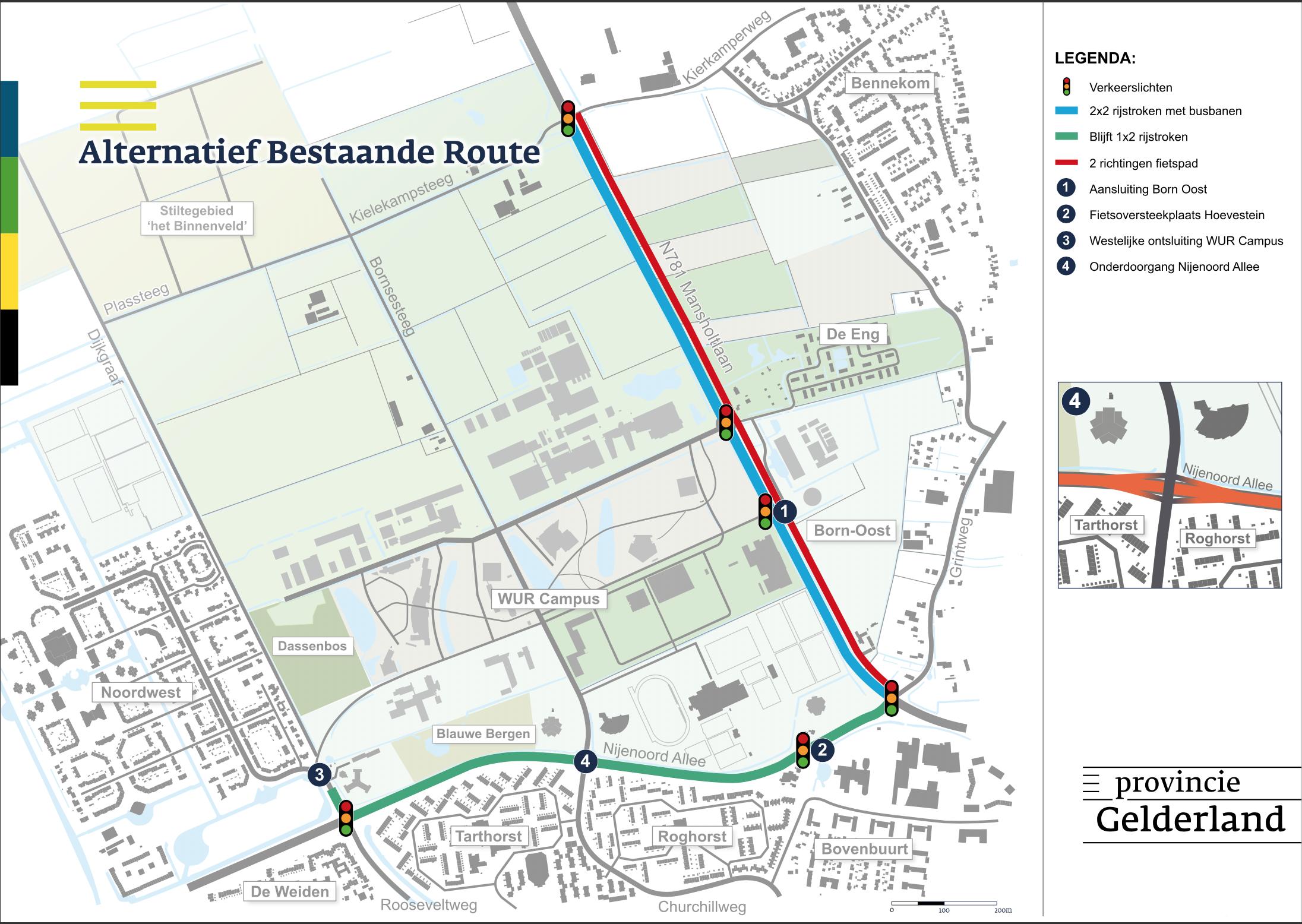 VVD blij met de keuze voor deze Alternatief Bestaande Route Wageningen
