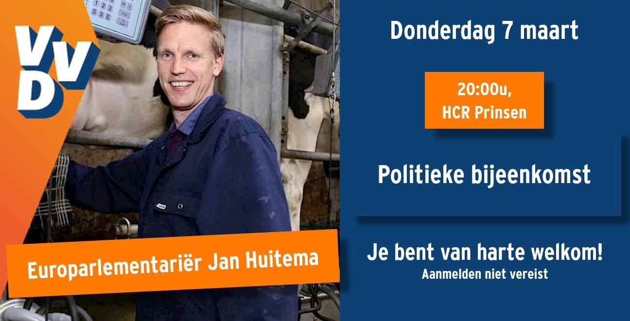 Politieke bijeenkomst met Europarlementariër Jan Huitema