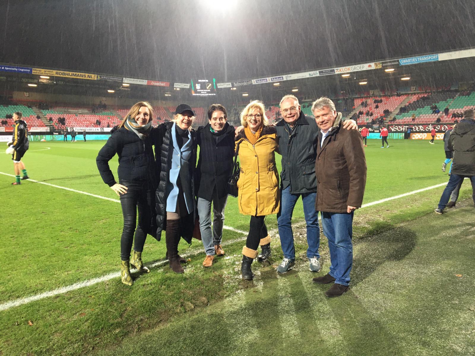 Gelderse VVD bezoekt NEC Nijmegen